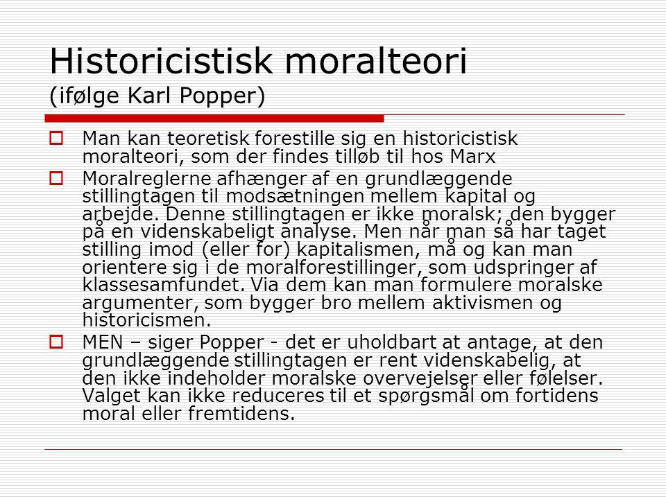 Historicistisk moralteori (ifølge Karl Popper)
