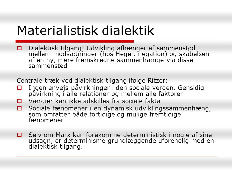 Materialistisk dialektik