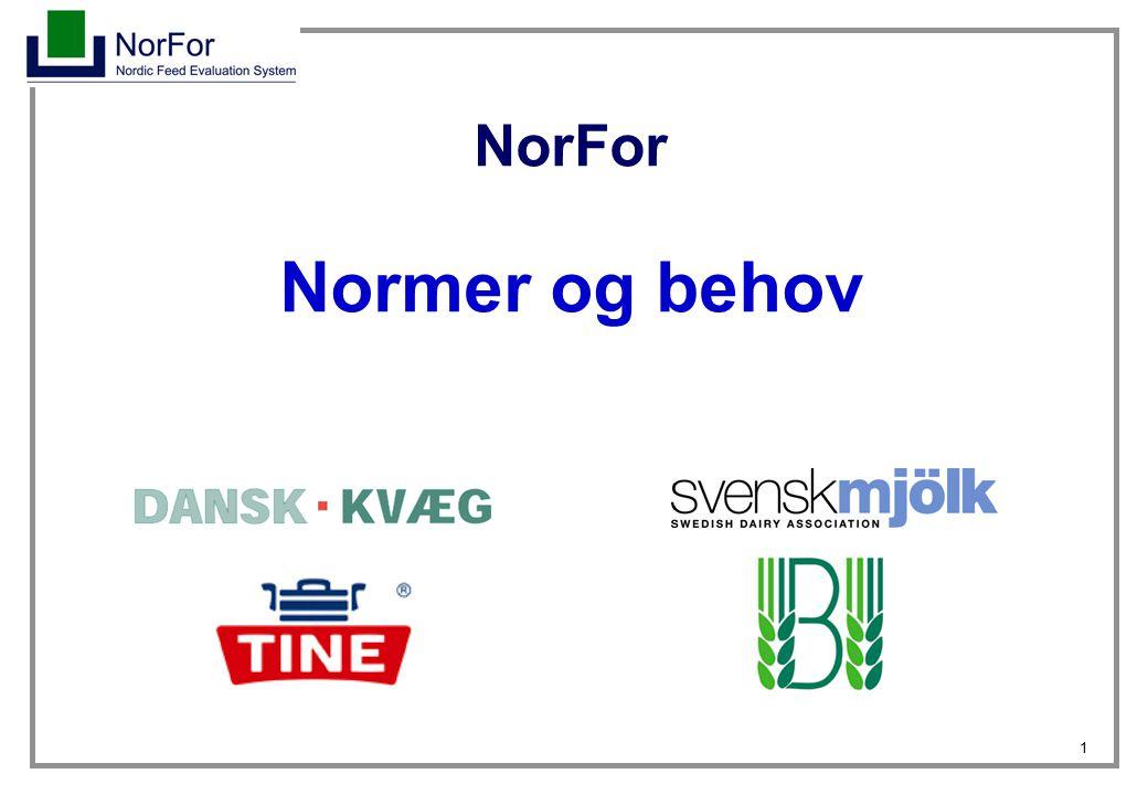NorFor Normer og behov