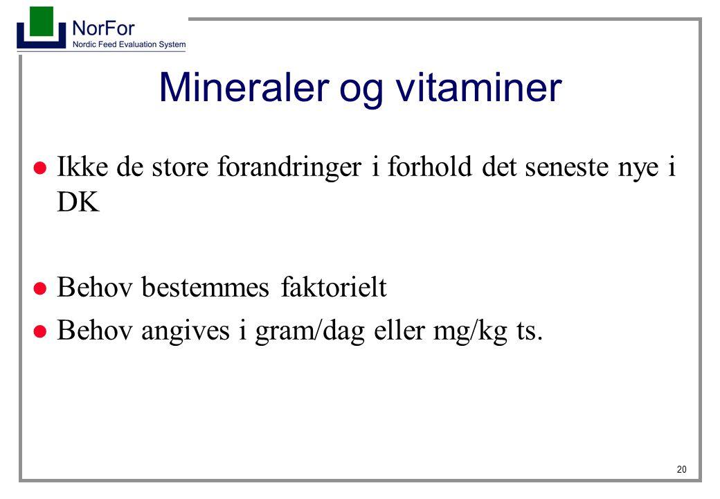 Mineraler og vitaminer