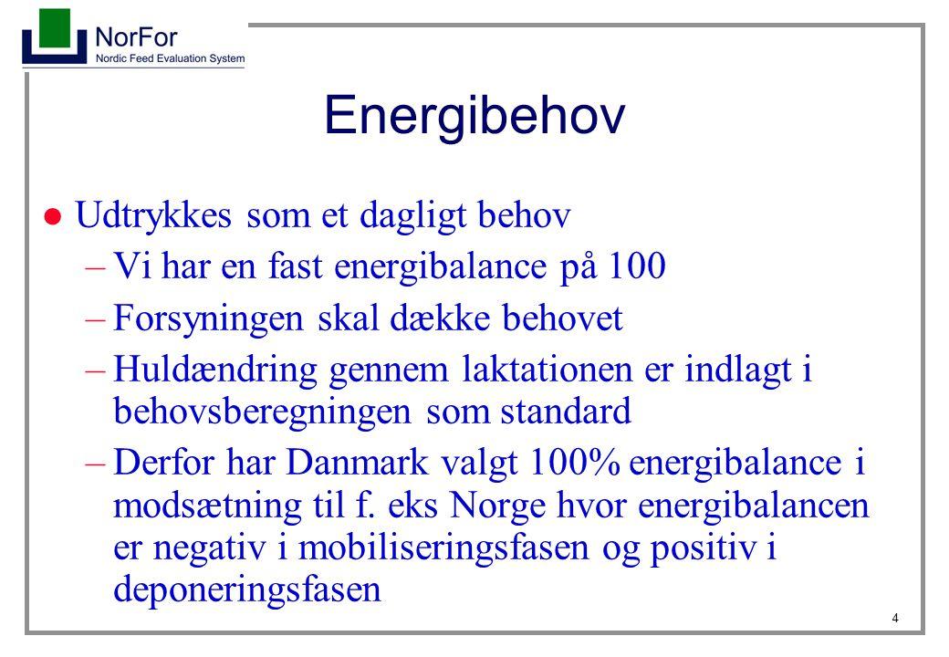 Energibehov Udtrykkes som et dagligt behov
