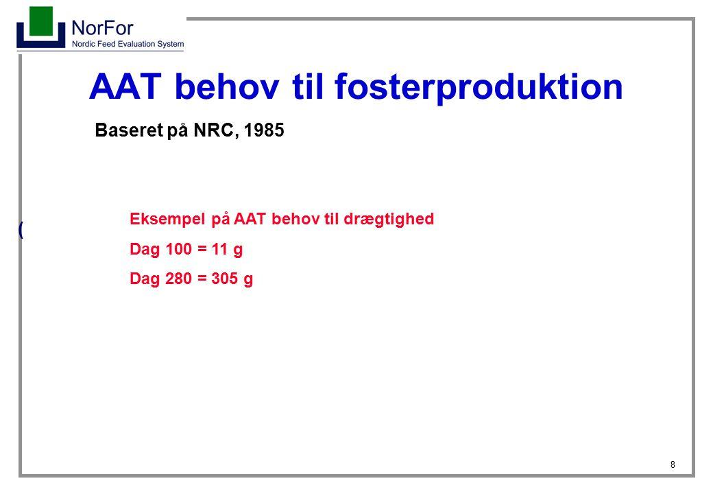 AAT behov til fosterproduktion