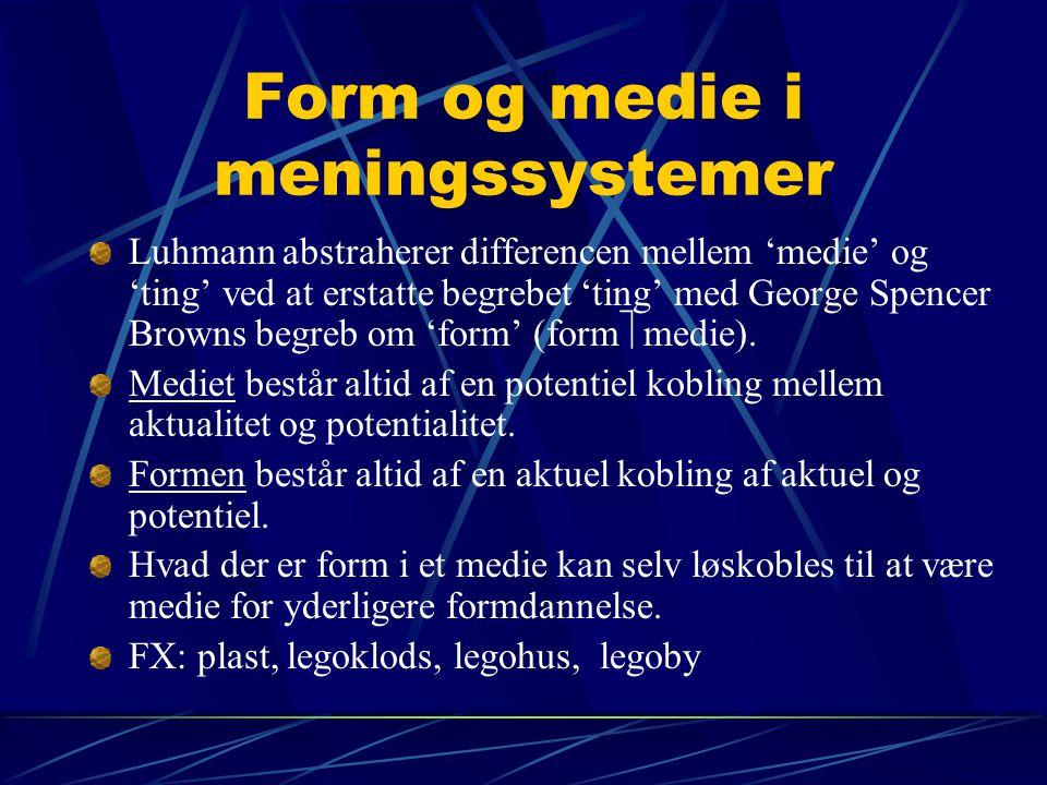Form og medie i meningssystemer