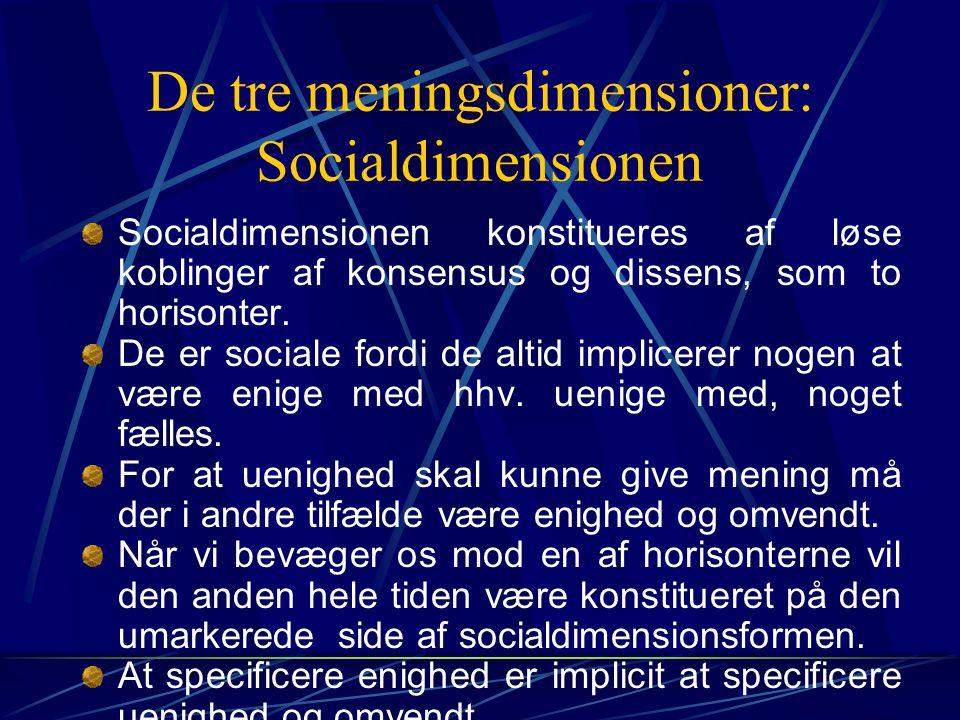 De tre meningsdimensioner: Socialdimensionen