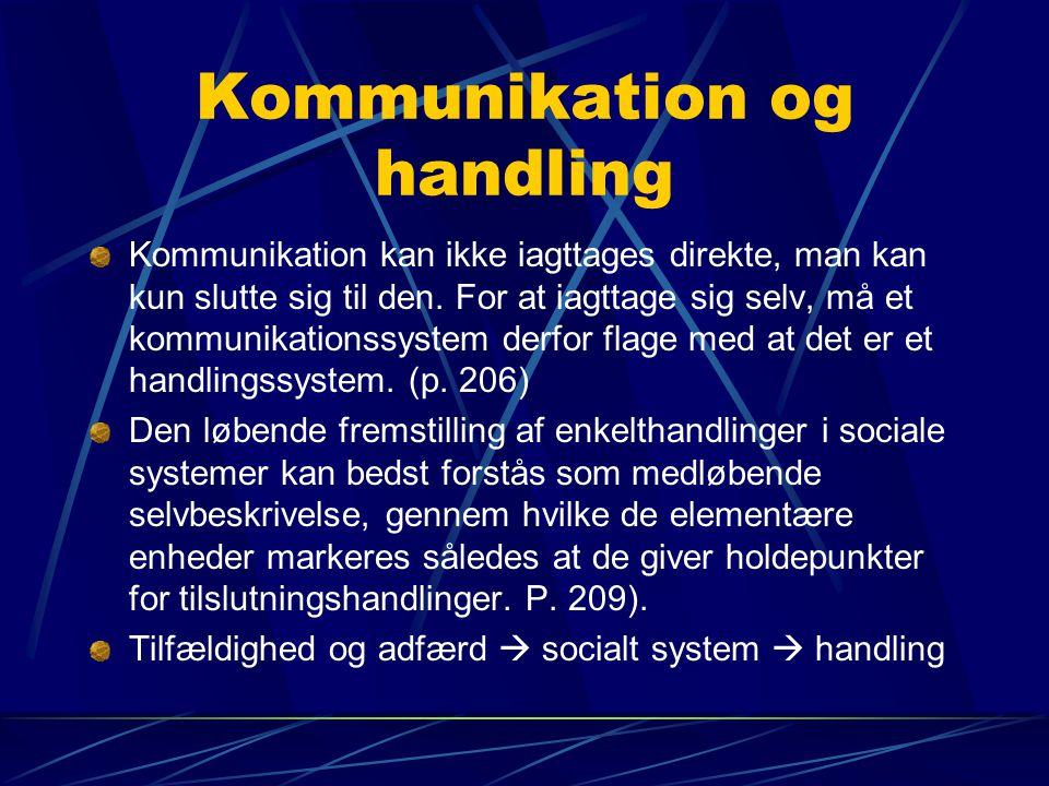 Kommunikation og handling