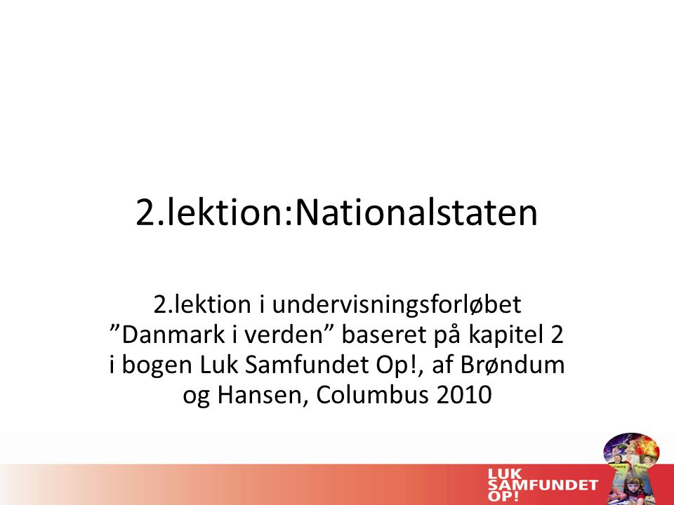 2.lektion:Nationalstaten