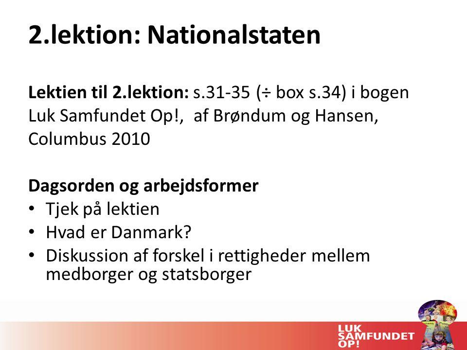 2.lektion: Nationalstaten