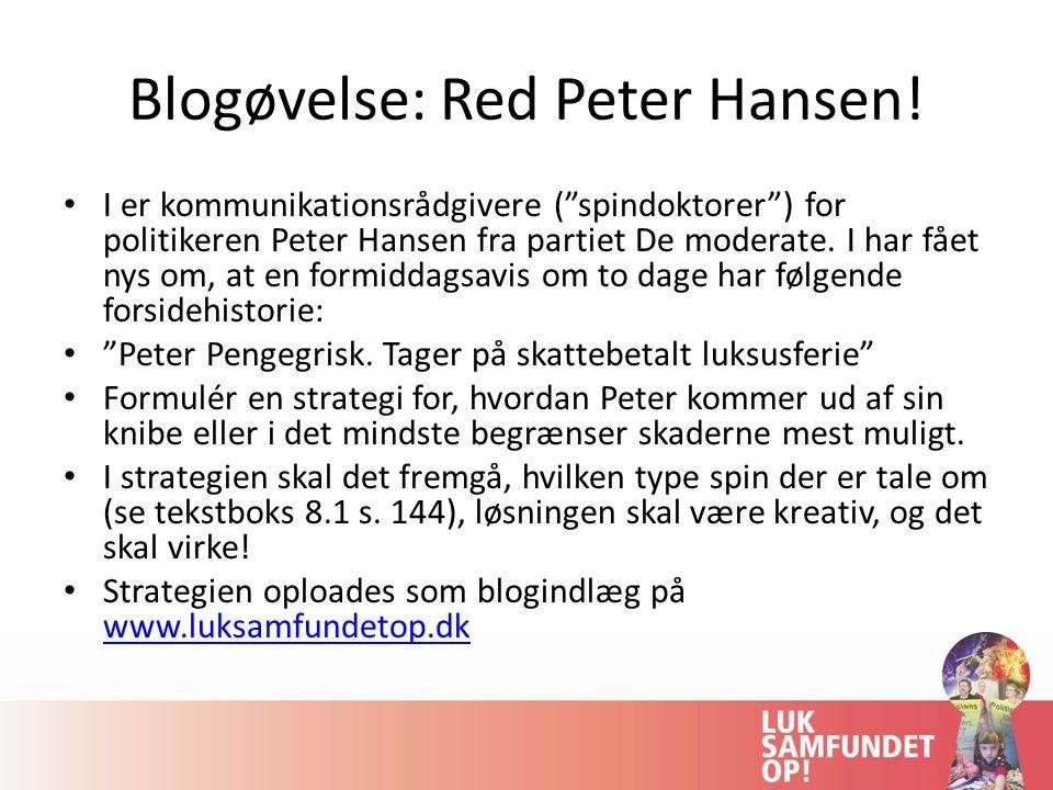 Blogøvelse: Red Peter Hansen!