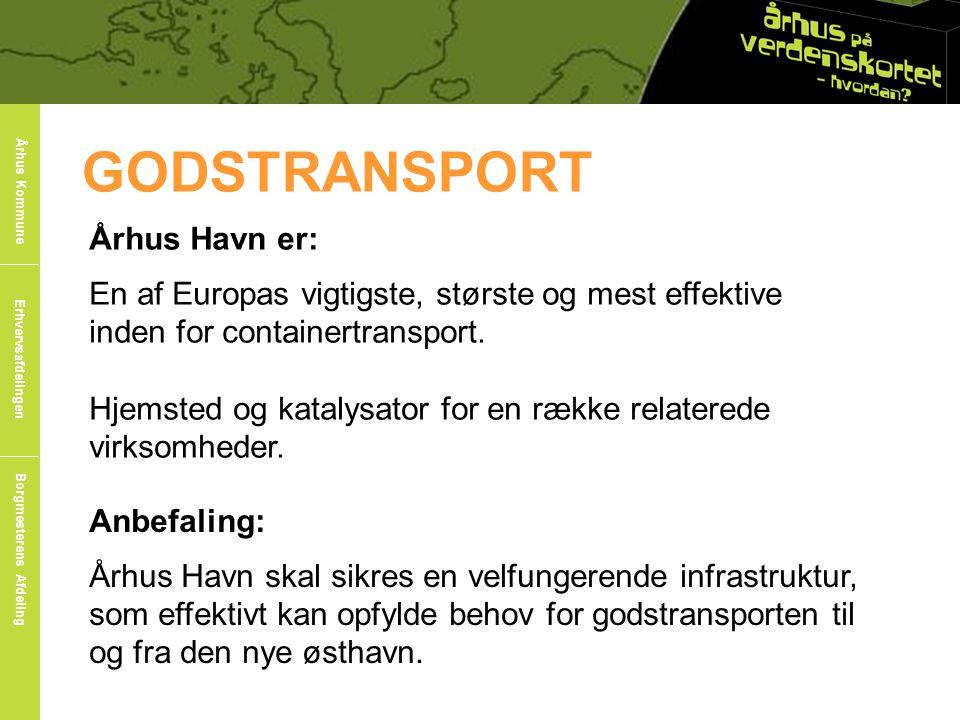 GODSTRANSPORT Århus Havn er: