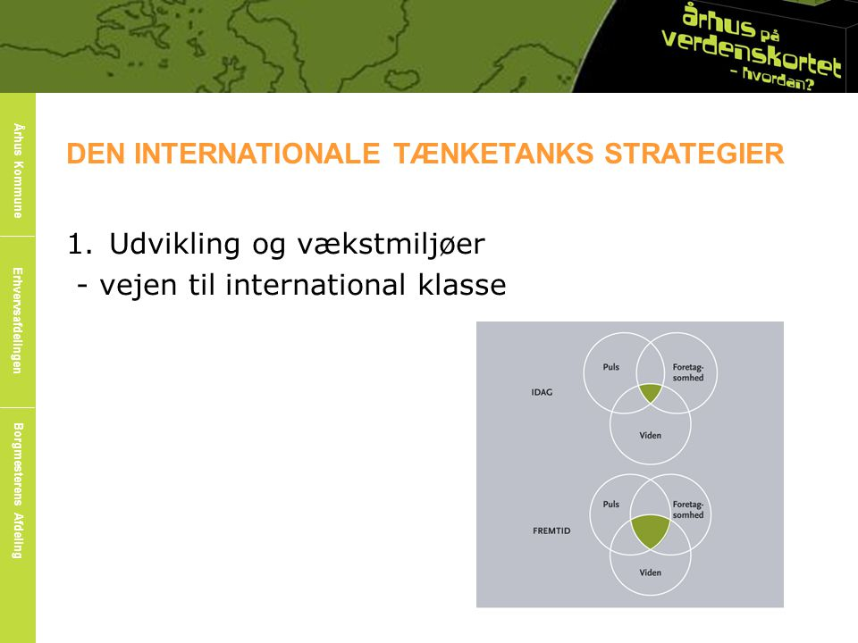 DEN INTERNATIONALE TÆNKETANKS STRATEGIER