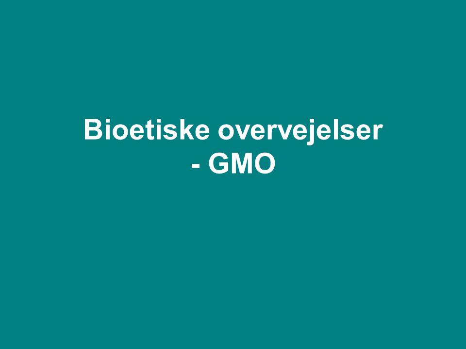 Bioetiske overvejelser - GMO