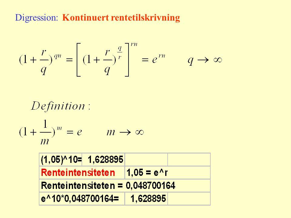 Digression: Kontinuert rentetilskrivning