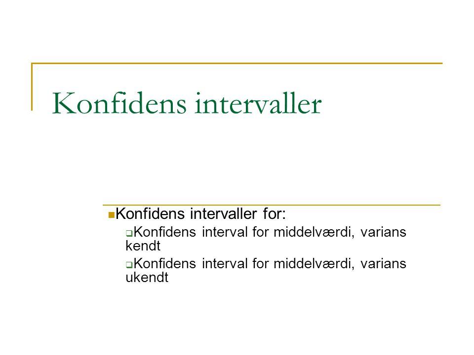 Konfidens intervaller