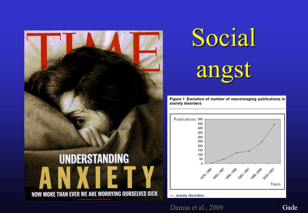 Social angst Damsa et al., 2009 Gade