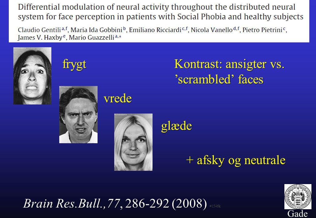 Kontrast: ansigter vs. 'scrambled' faces