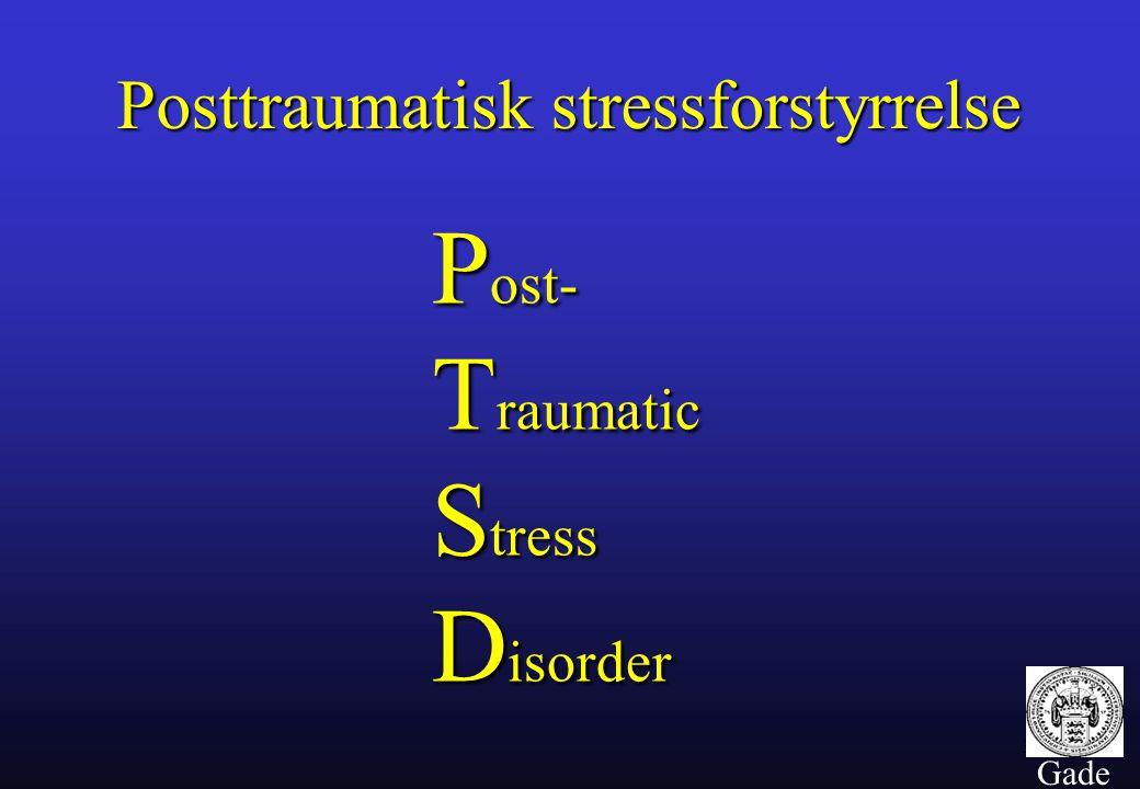 Post- Traumatic Stress Disorder
