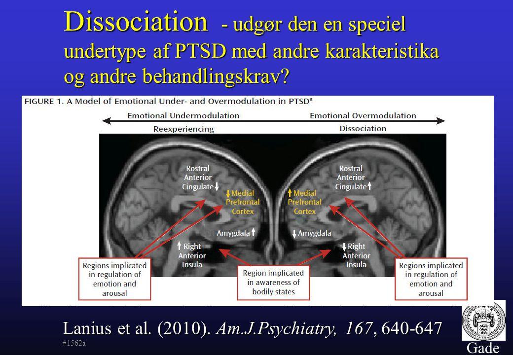 Dissociation - udgør den en speciel