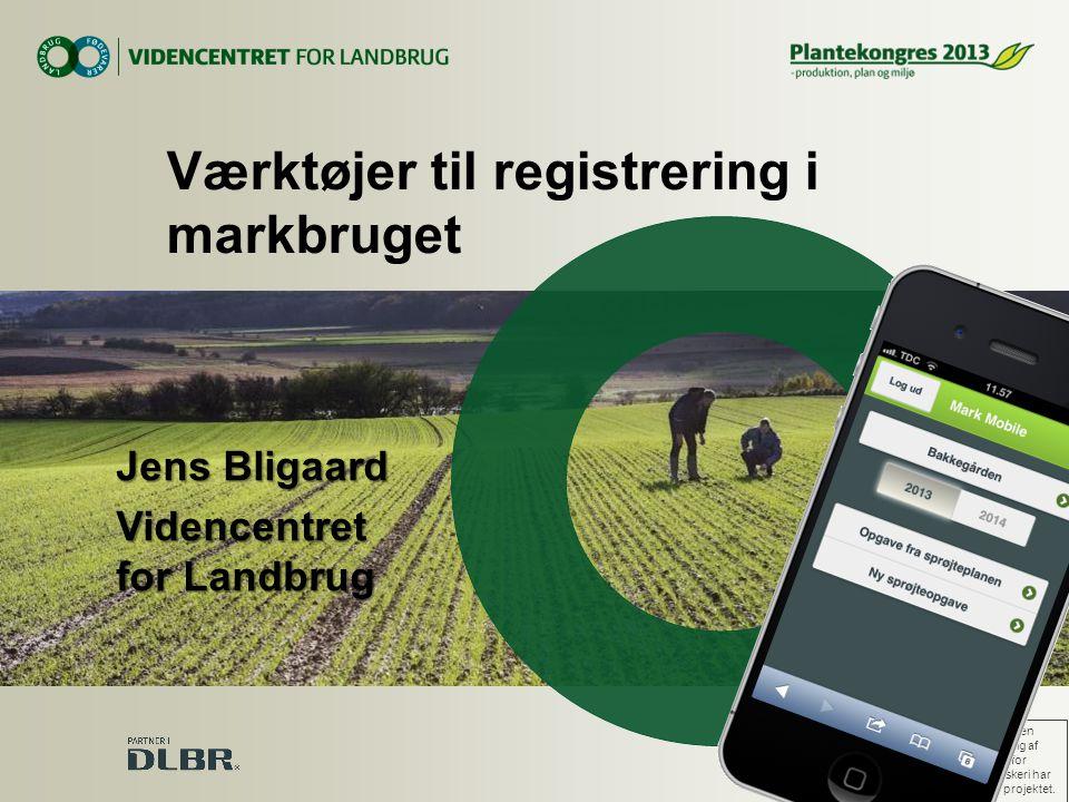 Værktøjer til registrering i markbruget