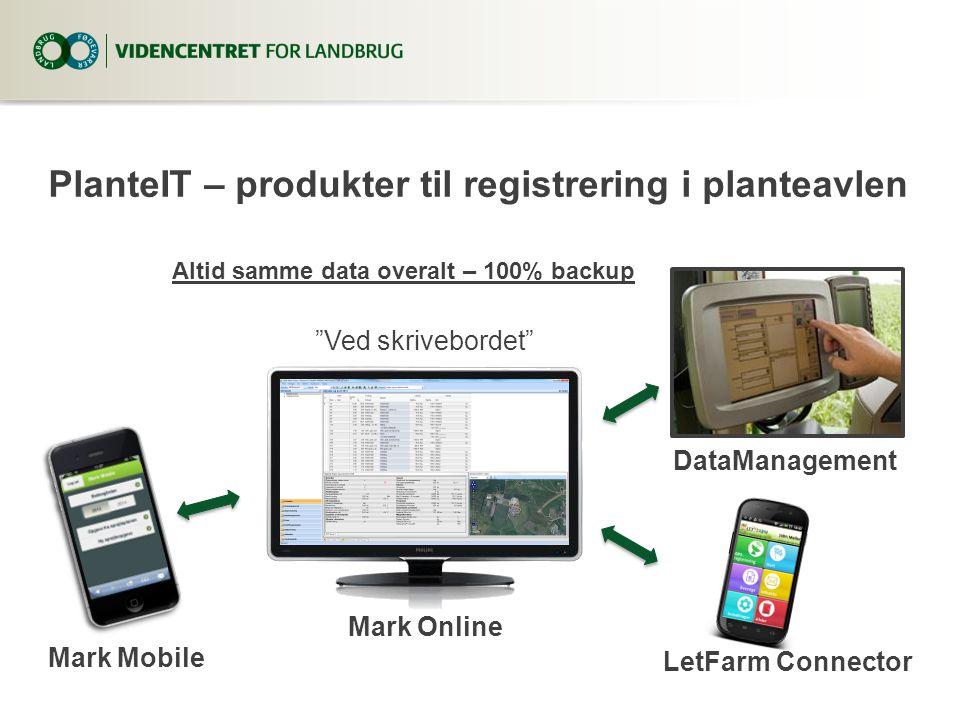 PlanteIT – produkter til registrering i planteavlen