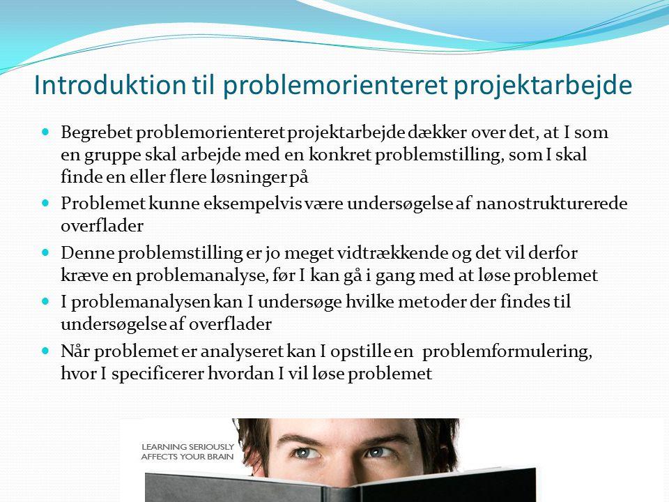 Introduktion til problemorienteret projektarbejde