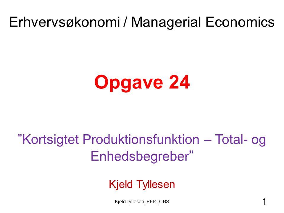 Opgave 24 Erhvervsøkonomi / Managerial Economics