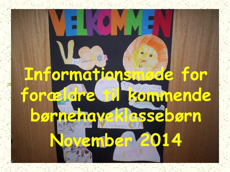 Informationsmøde for forældre til kommende børnehaveklassebørn