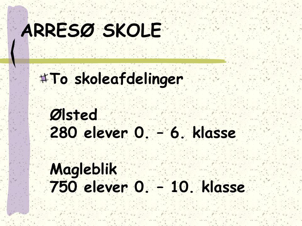ARRESØ SKOLE To skoleafdelinger Ølsted 280 elever 0.
