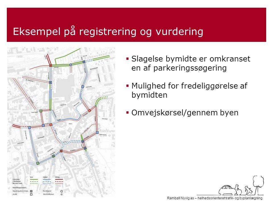 Eksempel på registrering og vurdering
