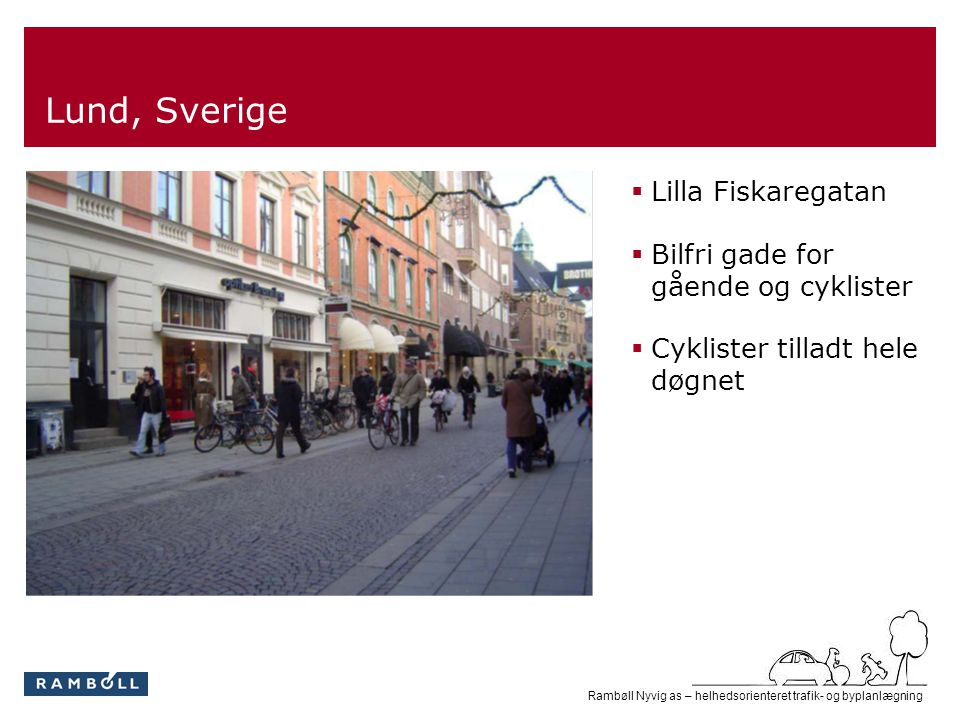 Lund, Sverige Lilla Fiskaregatan Bilfri gade for gående og cyklister