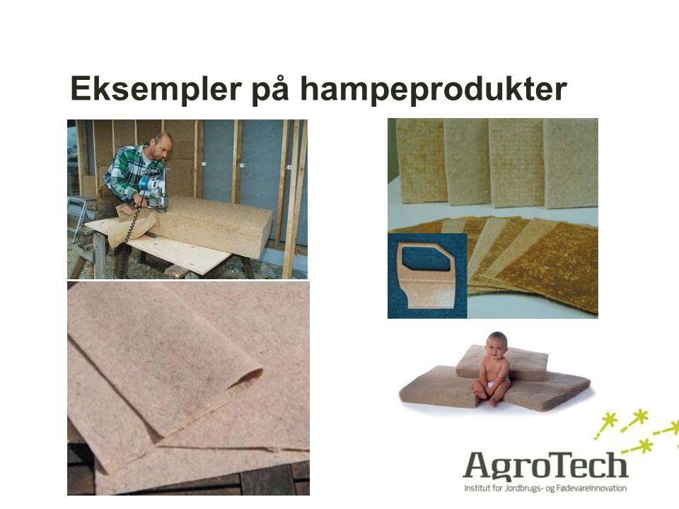 Eksempler på hampeprodukter