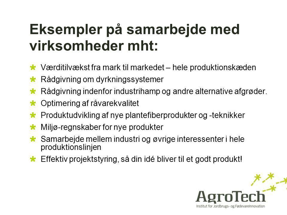 Eksempler på samarbejde med virksomheder mht: