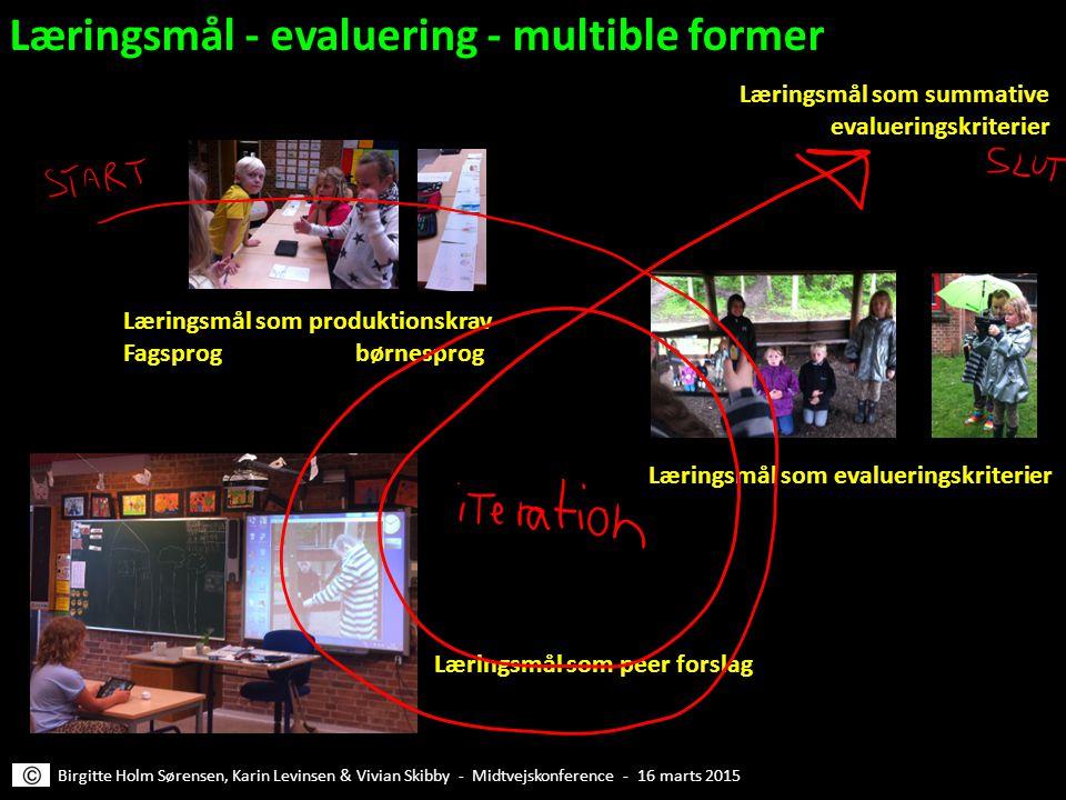 Læringsmål - evaluering - multible former