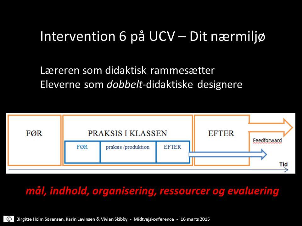 Intervention 6 på UCV – Dit nærmiljø