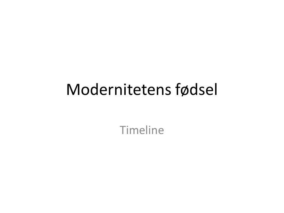 Modernitetens fødsel Timeline