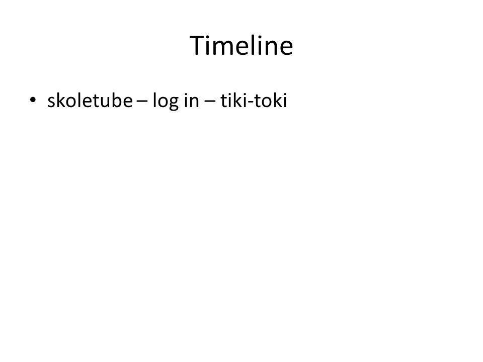 Timeline skoletube – log in – tiki-toki