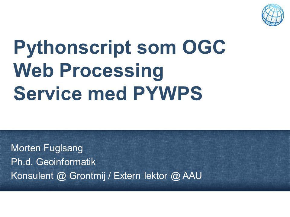 Pythonscript som OGC Web Processing Service med PYWPS