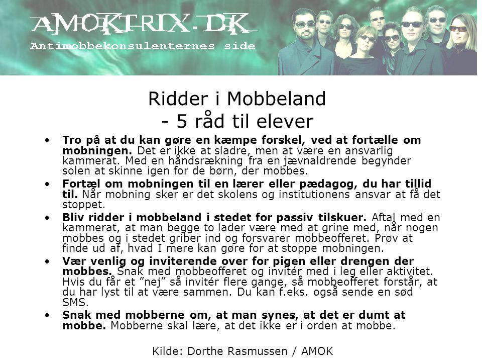 Ridder i Mobbeland - 5 råd til elever