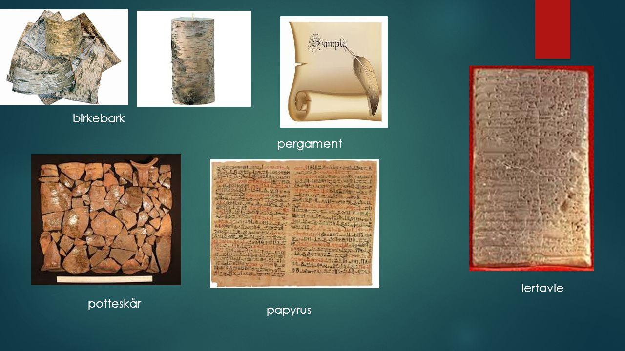brev av pergament