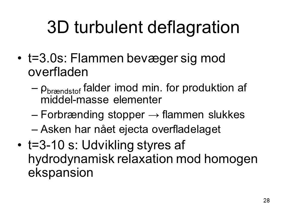 3D turbulent deflagration