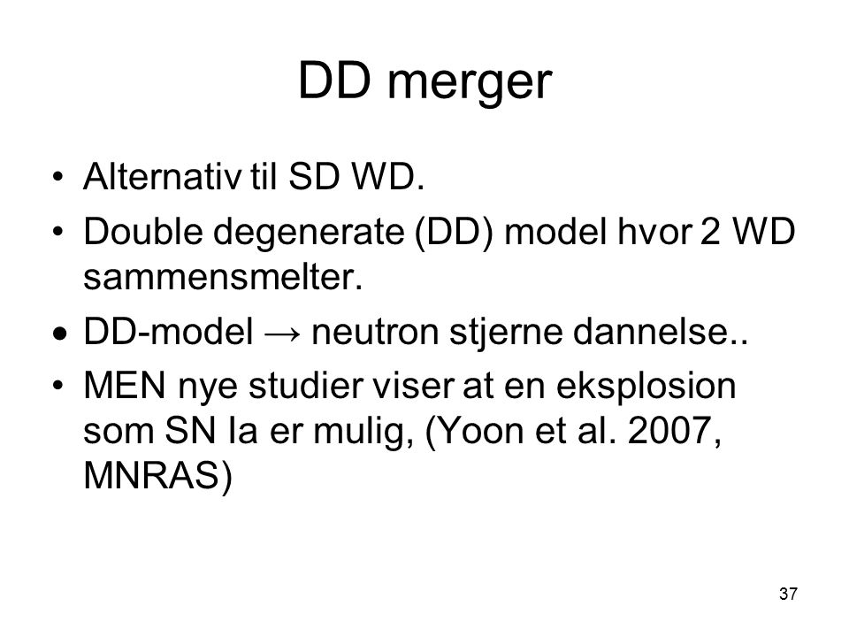 DD merger Alternativ til SD WD.