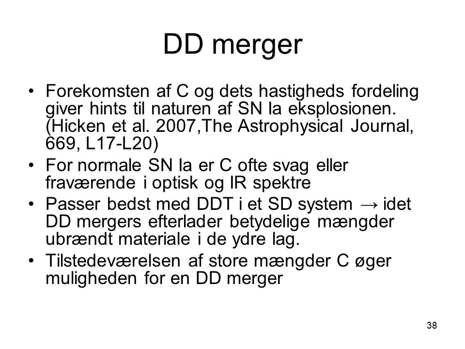 DD merger