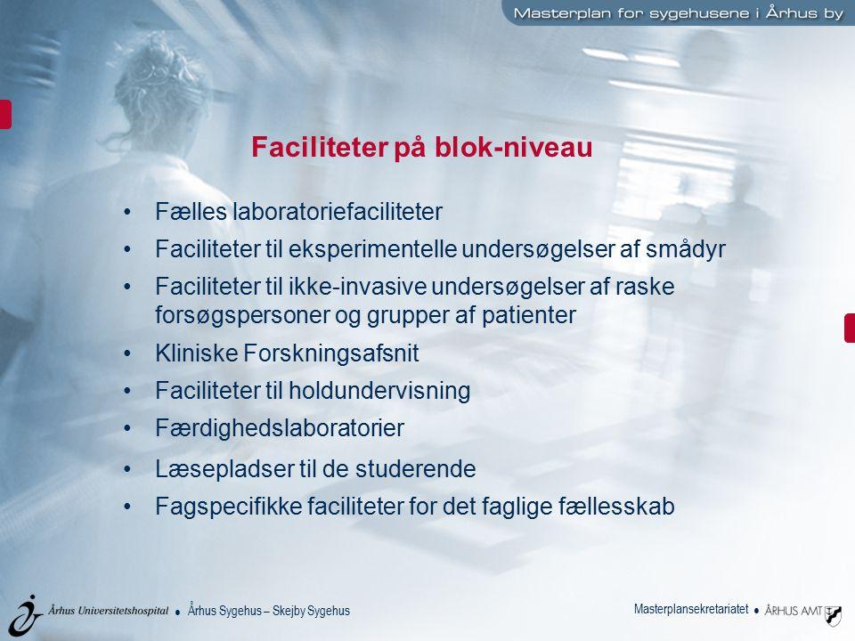 Faciliteter på blok-niveau