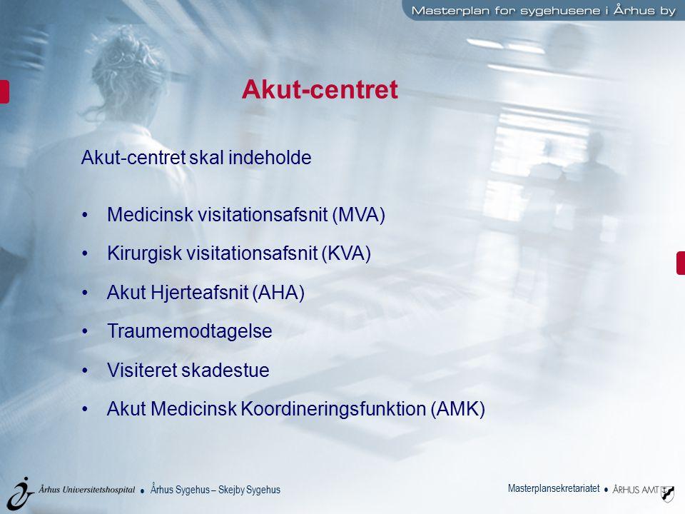 Akut-centret Akut-centret skal indeholde