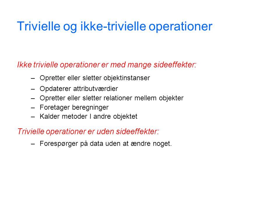 Trivielle og ikke-trivielle operationer