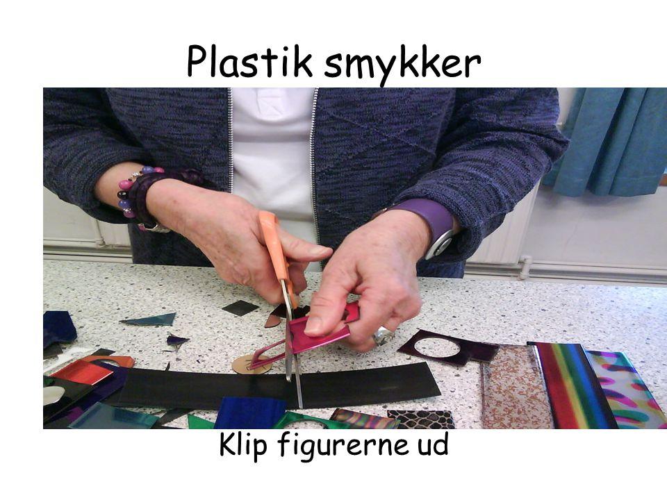 Plastik smykker Klip figurerne ud