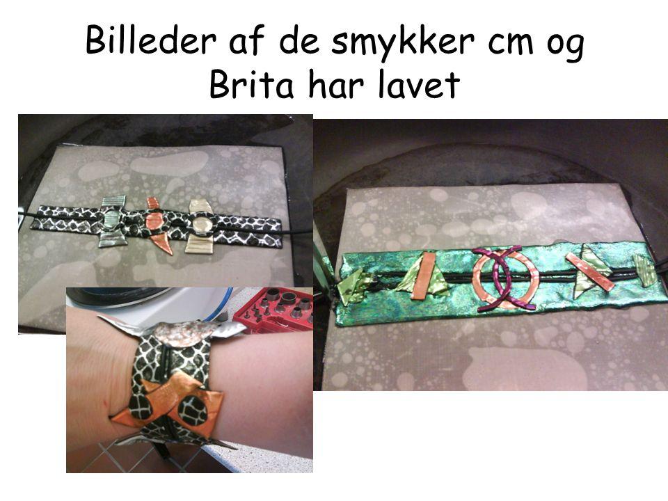Billeder af de smykker cm og Brita har lavet
