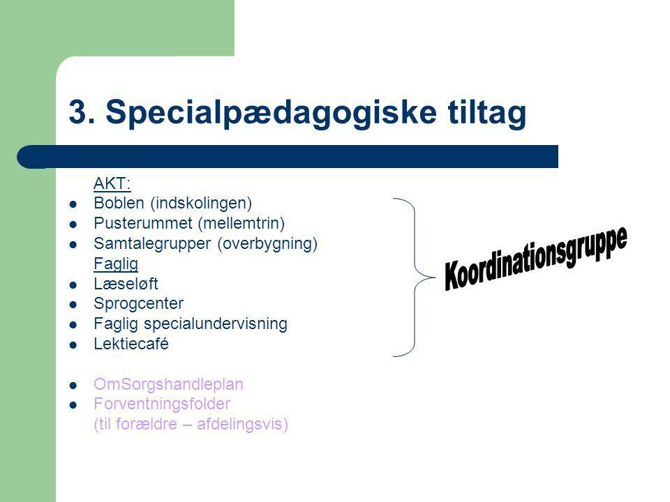 3. Specialpædagogiske tiltag