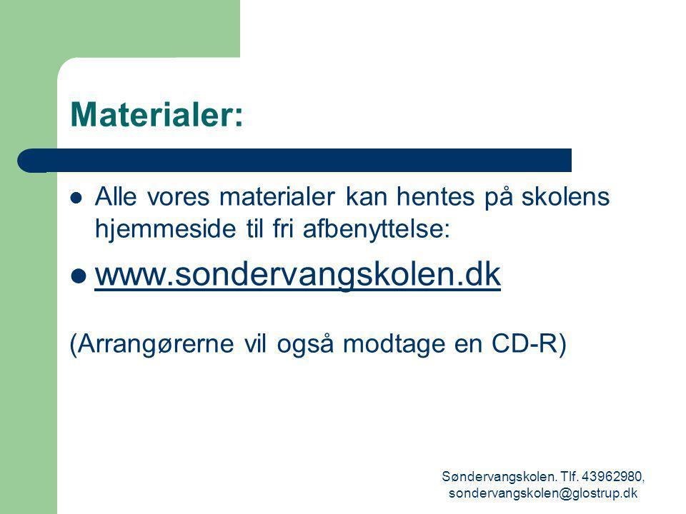 Søndervangskolen. Tlf. 43962980, sondervangskolen@glostrup.dk