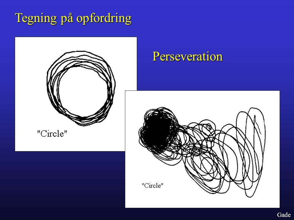 Tegning på opfordring Perseveration Gade
