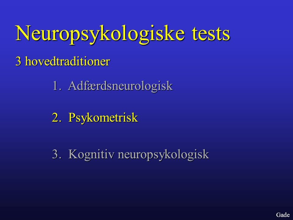 Neuropsykologiske tests
